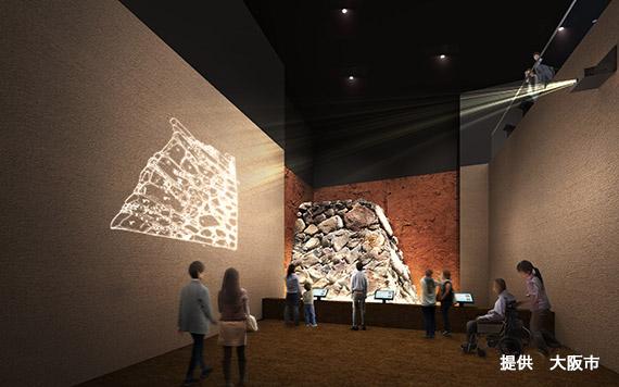地下階 石垣展示ホールイメージ